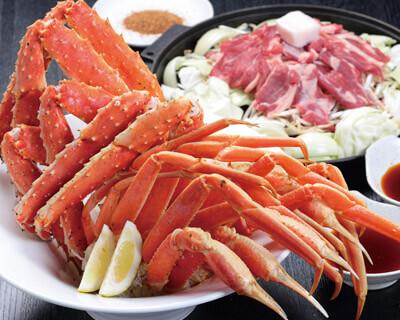 二大蟹とジンギスカン食べ放題