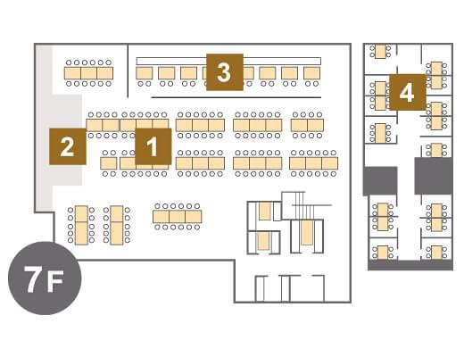 キリンビール園7階_席図