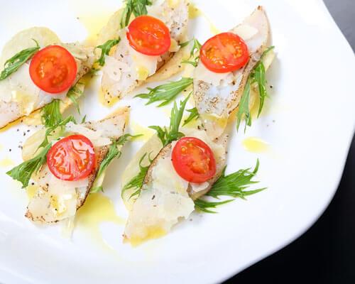 真鱈のチップスカルパッチョ