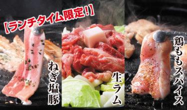 さらにお得に!【ランチタイム限定】3種の焼肉食べ放題